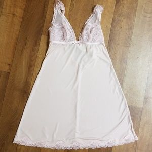 victoria's secret pink Babydoll. Size small